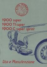 ALFA ROMEO 1900 SUPER, 1900 TI SUPER, 1900 C SUPER SPRINT