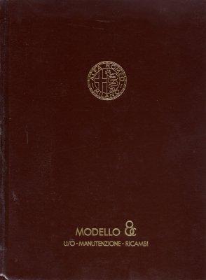 ALFA ROMEO MODELLO 8C USO MANUTENZIONE RICAMBI