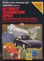 AUTOMATIC TRANSMISSION REPAIR 1984-89 IMPORT CARS & LIGHT TRUCKS