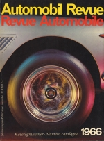 AUTOMOBIL REVUE 1966