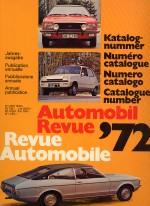 AUTOMOBIL REVUE 1972