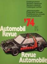 AUTOMOBIL REVUE 1974