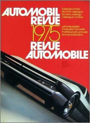 AUTOMOBIL REVUE 1975