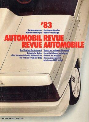 AUTOMOBIL REVUE 1983