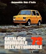 CATALOGO MONDIALE DELL'AUTOMOBILE 1973