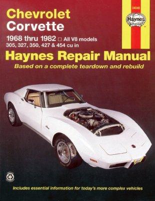 CHEVROLET CORVETTE 1968-82 AUTOMOTIVE REPAIR MANUAL