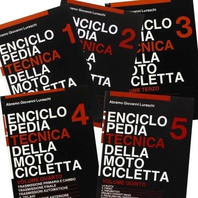 ENCICLOPEDIA TECNICA DELLA MOTOCICLETTA (5 VOLUMI)
