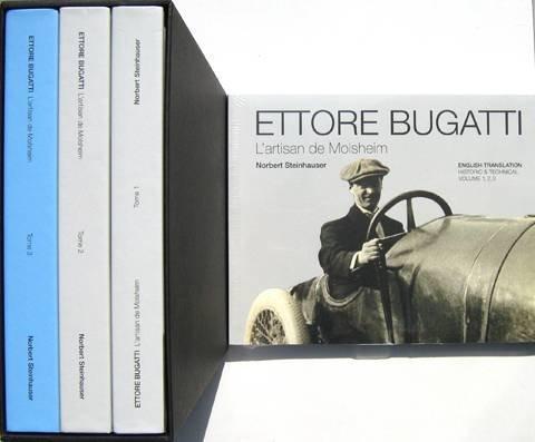 ETTORE BUGATTI L'ARTISAN DE MOLSHEIM (3 VOLL.)