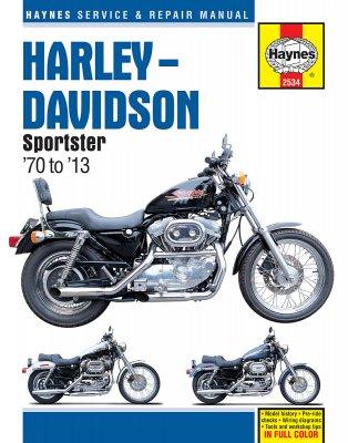 HARLEY-DAVIDSON SPORTSTERS '70 TO '13 HAYNES REPAIR MANUAL (2534)