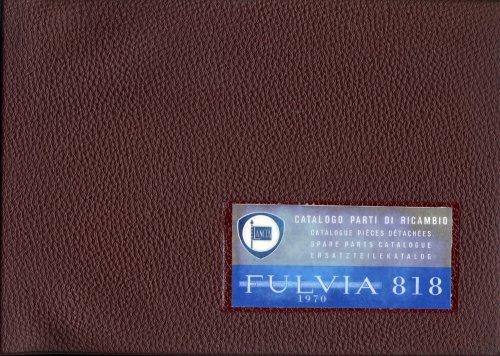 LANCIA FULVIA 818 CATALOGO PARTI DI RICAMBIO (ORIGINALE)