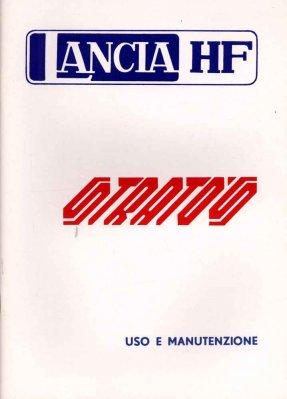 LANCIA HF STRATO'S USO E MANUTENZIONE