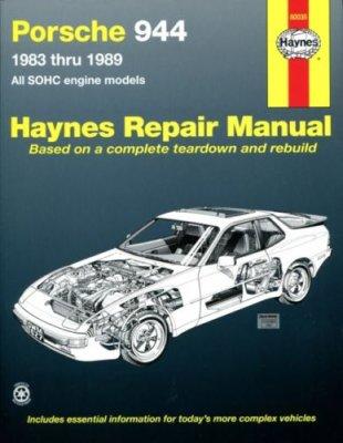 PORSCHE 944 1983 THRU 1989, ALL SOHC ENGINE MODELS