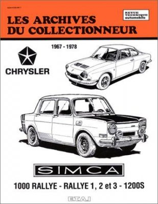 SIMCA 1000 RALLYE - RALLYE 1-2 ET 3 - 1200S
