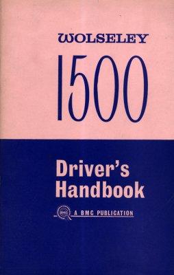 WOLSELEY 1500 DRIVER'S HANDBOOK