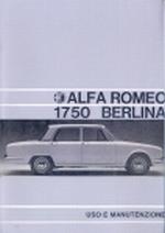 ALFA ROMEO 1750 BERLINA USO E MANUTENZIONE