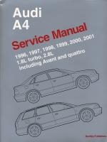 AUDI A4 SERVICE MANUAL 1996-2001