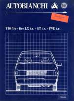 AUTOBIANCHI Y10 FIRE FIRE LX I.E. GT I.E. 4WD I.E.