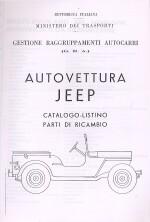AUTOVETTURA JEEP CATALOGO RICAMBI (FOTOCOPIE)