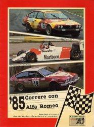 CORRERE CON ALFA ROMEO '85 (BROCHURE)