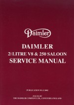 DAIMLER 2 1/2 LITRE V8 & 250 SALOON SERVICE MANUAL