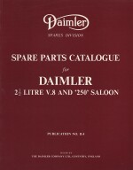 DAIMLER 2 1/2 LITRE V8 AND 250 SALOON SPARE PARTS CATALOGUE