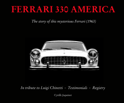 FERRARI 330 AMERICA - THE STORY OF THIS MYSTERIOUS FERRARI (1963)
