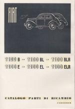 FIAT 1100 B - E - BL - EL - BLR - ELR CATALOGO PARTI DI RICAMBIO