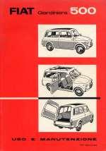 FIAT 500 GIARDINIERA USO E MANUTENZIONE (ORIGINALE)