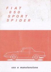 FIAT 850 SPORT SPIDER USO E MANUTENZIONE