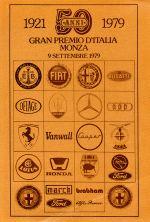 GRAN PREMIO D'ITALIA MONZA 1921-1979
