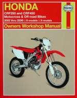 HONDA CRF250 AND CRF450 MOTOCROSS & OFF-ROAD BIKES 2002 TO 2006 R-MODELS X-MODELS SERVICE AND REPAIR MANUAL (2630)