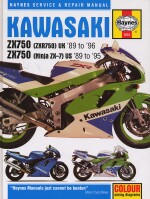 KAWASAKI ZX750 (ZXR750) UK '89 TO '96, ZX750 (NINJA ZX-7) US '89 TO '95 (2054)