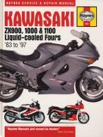 KAWASAKI ZX900, 1000 & 1100  LIQUID-COOLED FOURS '83 TO '97 (1681)