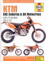 KTM EXC ENDUROS & SX MOTOCROSS SOHC 4 STROKES '00 TO '07 (4629)