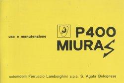 LAMBORGHINI P400 MIURA S USO E MANUTENZIONE
