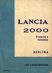 LANCIA 2000 BERLINA 5 MARCE E INIEZIONE USO E MANUTENZIONE (ORIGINALE)