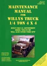 MAINTENANCE MANUAL FOR WILLYS TRUCK 1/4 TON 4X4