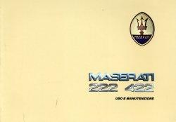 MASERATI 222 422 USO E MANUTENZIONE