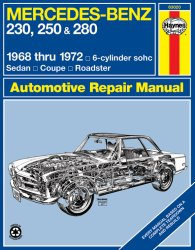 MERCEDES BENZ 250 & 280 1968 TO 1972 6-CILINDER SOHC SALOON COUPE ROADSTER
