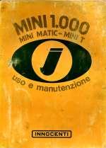 MINI 1000 MINI MATIC MINI T USO E MANUTENZIONE (ORIGINALE)