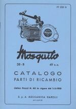 MOSQUITO 38-B, 49 C.C. CATALOGO PARTI DI RICAMBIO
