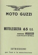 MOTO GUZZI MOTOLEGGERA 65 C.C. USO E MANUTENZIONE