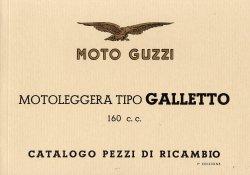 MOTO GUZZI MOTOLEGGERA TIPO GALLETTO 160 CC CATALOGO PEZZI DI RICAMBIO