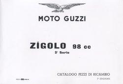 MOTO GUZZI ZIGOLO 98 CC CATALOGO PEZZI DI RICAMBIO