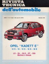 OPEL KADETT E 12 S - 13 - 13 S - 16 S - 18 E - LS - GL - GLS - GT - GSI BERLINE E BREAK