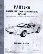 PANTERA MASTER PARTS AND ILLUSTRATIONS CATALOG