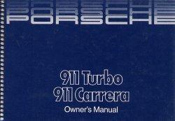 PORSCHE 911 TURBO 911 CARRERA OWNER'S MANUAL (06/1985)