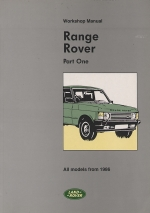 RANGE ROVER WORKSHOP MANUAL (PART ONE)