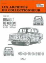 RENAULT R8 GORDINI R1134 R1135 1965-1970