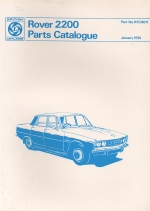 ROVER 2200 PARTS CATALOGUE